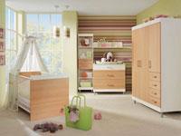 Вот твой первый список мебели: кроватка, пеленальный столик, стульчик для кормления, манеж и комод для вещичек.